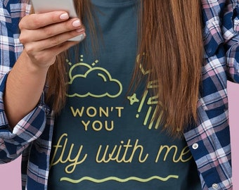 Fly with Me T-shit (Unisex) - Concert Tee, Vintage Jonas Fan Gift, Concert Merch