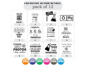 Chemistry Humour bundle svg 12,Periodic Table Elements SVG, chemistry svg, science teacher svg,Science SVG Bundle For Silhouette and Cricut