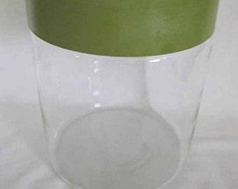 Vintage large Green Pyrex canister