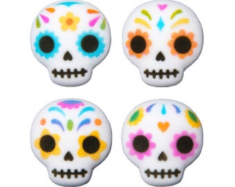 Day of the dead sugar skull Dia de los Muertos dec-ons, topper, lay-on, cookies, candy, cupcake, cake