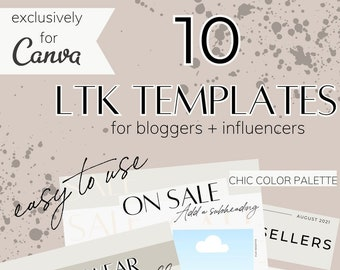 LTK Templates for Bloggers + Influencers   Canva Templates