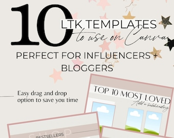 Customizable LiketoKnow.it/ShopStyle Templates for Bloggers + Influencers   Canva Templates
