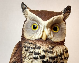 Great Horned Owl, Andrea by Sadek, Sadek 9339, Collectible Owl Figurine, Gift for Bird Watchers, Gift for Owl Collectors, Gift for Teacher