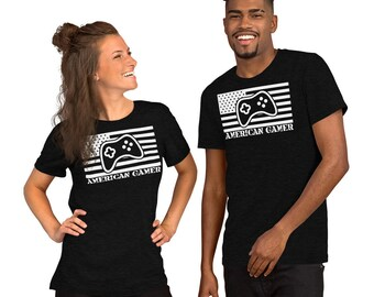 American Gamer™, Short-Sleeve Unisex T-Shirt