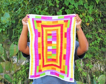 Gee's Bend Quilt, Cotton Quilt, Artistic Quilt, Quilt, Tapestry Quilt, Tapestry, Handstitched Quilt, Handsewn Quilt