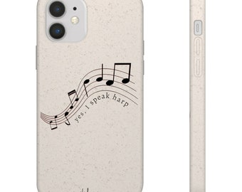 Notes - I Speak Harp Biodegradable Phone Case (suitable for iPhone & android)