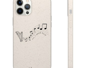 Harp - I Speak Harp Biodegradable Phone Case (suitable for iPhone & android)