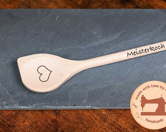 Cooking spoon personalized with heart