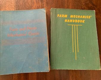 Farm and Home Mechanics Guide Vintage Book Set ( 2 Books ) 1943