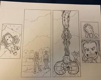 "SHADOWBINDERS Original Comic Book Artwork by Thom ""Kneon"" Pratt Featuring Mia White"