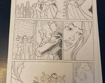 "SHADOWBINDERS Original Comic Book Artwork by Thom ""Kneon"" Pratt"
