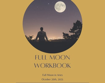 Full Moon Ritual Workbook: Aries October 10 | Moon Ritual | Moon Workbook | Witch | Magic | Manifestation | Spiritual | Woo | Journal
