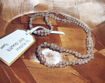 Rose quartz So Purkh Tantric mala necklace