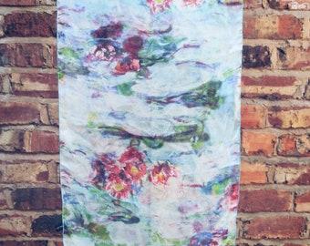 Watercolor scarf multicolour silk turban