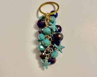 Handmade Keychain/ Beaded/ Crystal