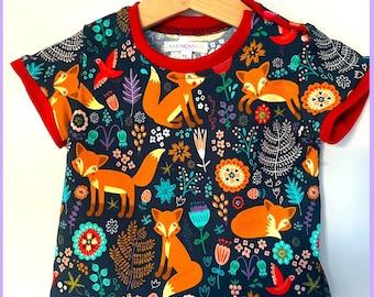 T-shirt with fox motif