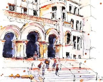 Watercolour Print - Old City Hall, Toronto
