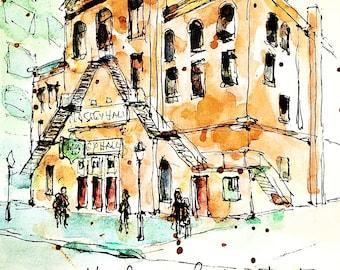 Watercolour Print - Massey Hall, Toronto
