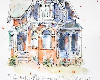 Watercolour Print - Witches' House, Toronto