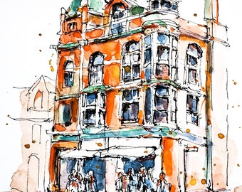 Watercolour Print - The Great Hall, Queen Street, Toronto