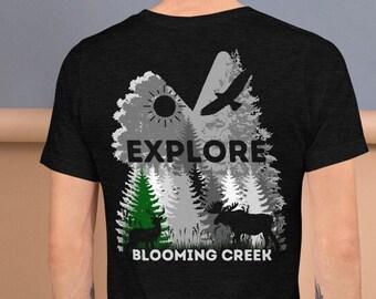 Blooming Creek T-Shirt | Explore Tshirt | Soft Bella + Canvas Unisex T-Shirt