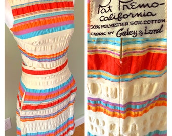 Vintage 1960's Striped Pat Primo Summer/Day Dress