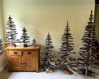 Driftwood Tree 25cm - 180cm high, environmentally friendly hand made in North Devon