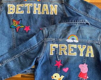 Personalised Kids Denim Jacket