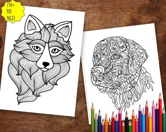 Animal Mandala Coloring Book For Adults 250+ Pages