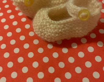 Baby Mary Jane knitted shoes