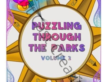 Puzzle Book/Activity Book/Brainteaser Book/Activity Kit/Theme Park Inspired