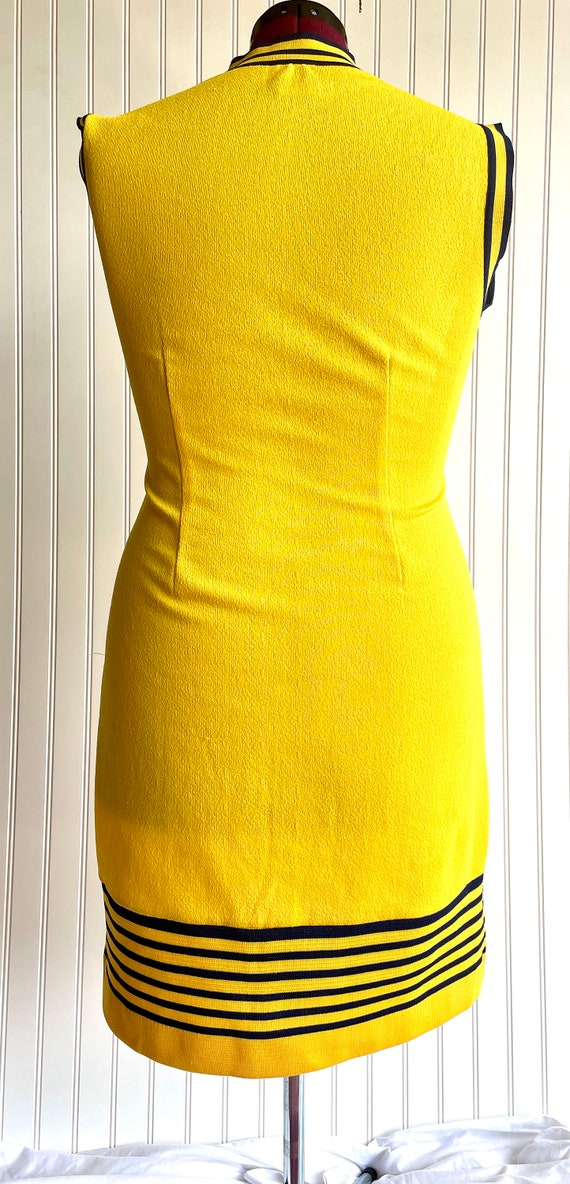 Vintage 1970s Bright Yellow and Blue Athletic Shi… - image 3