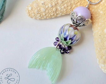 mermaid tail necklace blue purple | Free US Shipping