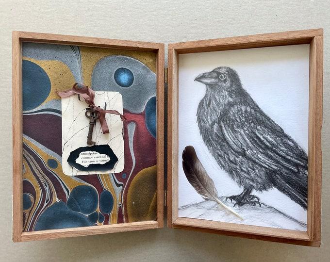 Raven: Cigar box assemblage