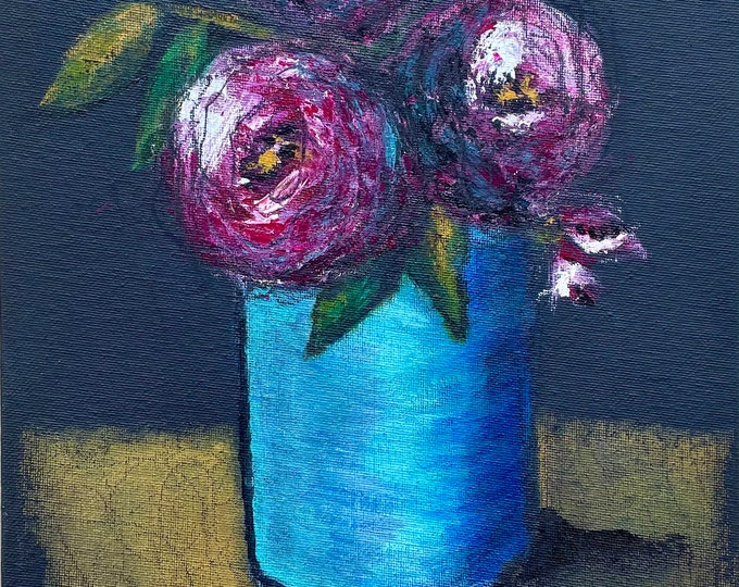 Dark Floral: original painting