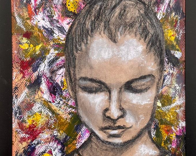 Flora: original mixed media artwork