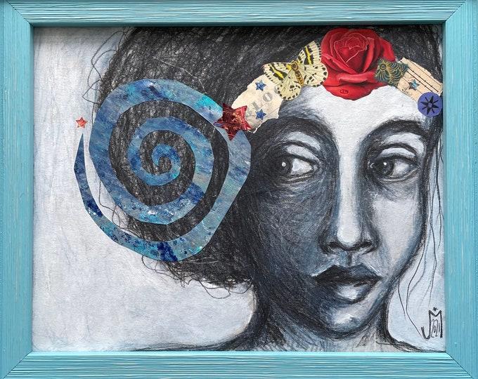 Spiral: original mixed media artwork