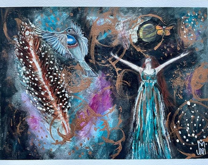 Soul Made Visible: original mixed media painting