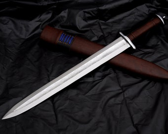 Hand forged Viking sword-21 inches Blade historical Viking sword-Replica sword-Battle Ready sword-forged-leaf spring-Tempered-Sharpen-Nepal