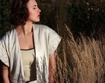 Reversible Kimono Cardigan  | Burnout Velvet top 2-in-1