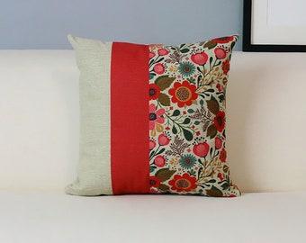 Rural Floral cushion cover