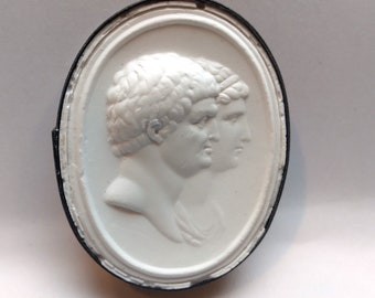 P95, Marcus Antonius and Cleopatra, Intaglio, cameo, plaster cast, impression from the Poniatowski collection