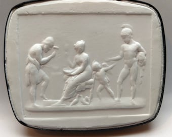 P243, Hephaestus/Volcano in the forge, Intaglio, cameo, plaster cast, impression from the Poniatowski collection