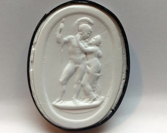 P84, Ares/Mars and Aphrodite, Intaglio, cameo, plaster cast, impression from the Poniatowski collection