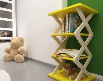 Wooden Bookshelf, Bookshelf for Kids Room, Kids Room Organizer, Bookshelf, Toy Storage, Playroom Organizer
