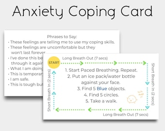 Anxiety Coping Cards with Different Coping Skills and Strategies to Carry Everywhere