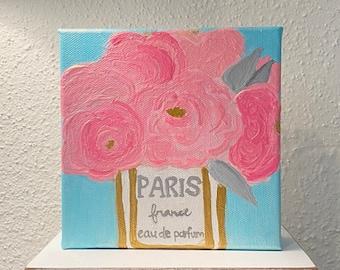 Paris Flowers Canvas