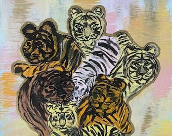 Seven Tigers Canvas