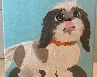 Puppy Portrait on Canvas
