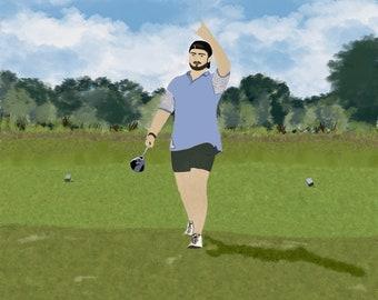 Golfer Digital Print